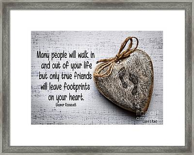 Footprint On Your Heart Framed Print