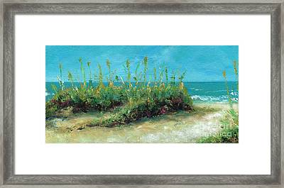 Footprints In The Sand Framed Print by Frances Marino