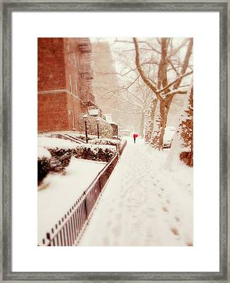Framed Print featuring the photograph The Red Umbrella by Jessica Jenney