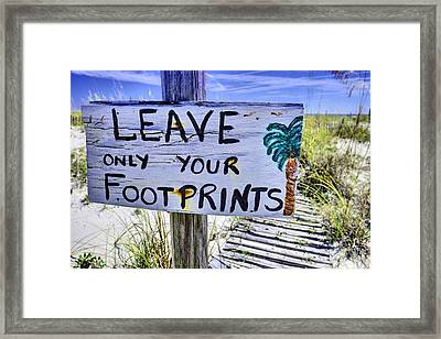 Footprints Only Framed Print by JC Findley