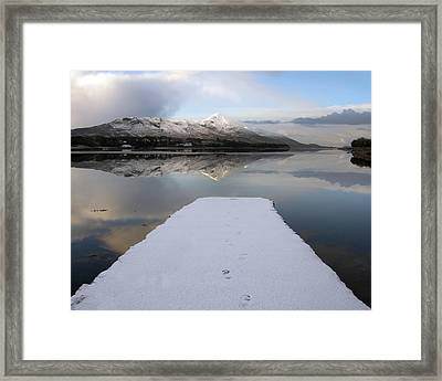 Footprints Framed Print by Paul  Mealey