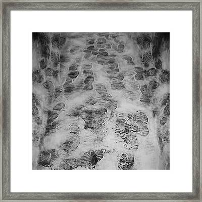 Footprints Framed Print