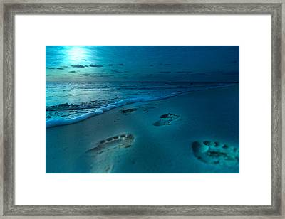 Footprints To Paradise Framed Print
