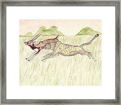 Footrace Framed Print
