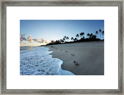 Footsteps To Paradise Framed Print