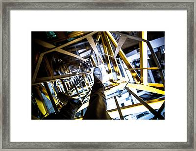 Footwork Framed Print by Cole Coleman
