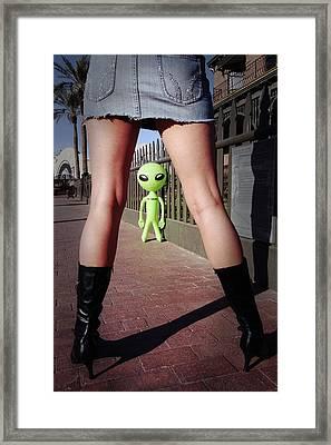 For Alien Eyes Only Framed Print by Richard Henne