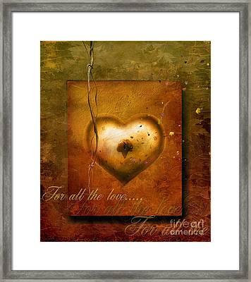For All The Love Framed Print by Jacky Gerritsen