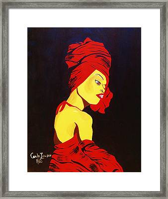 For Badu Framed Print by Carla J Lawson