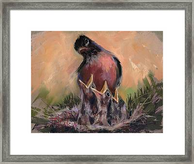 Framed Print featuring the painting For Crying Out Loud by Billie Colson