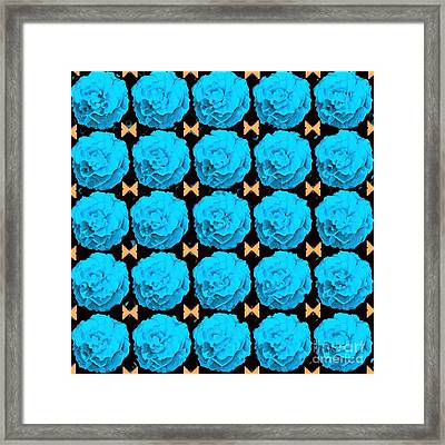For Every Blue Rose There Is A Butterfly Framed Print by Helena Tiainen