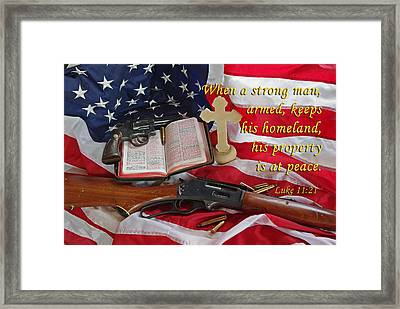 For God, Family And Country Framed Print by Robyn Stacey