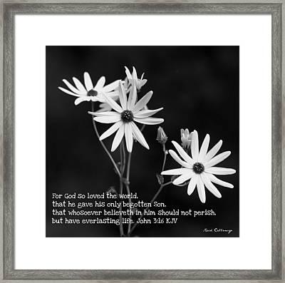 For God So Loved Black-eyed Susan Flower Framed Print by Reid Callaway