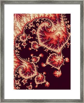 Framed Print featuring the digital art For Love Of Autumn by Susan Maxwell Schmidt