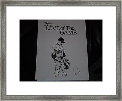 For Love Of The Game Framed Print by Raymond Nash