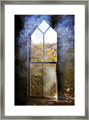 For Now We See Through A Glass Darkly Framed Print by Thomas R Fletcher