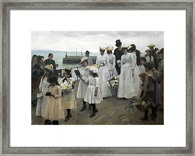 For Of Such Is The Kingdom Of Heaven Framed Print by Frank Bramley