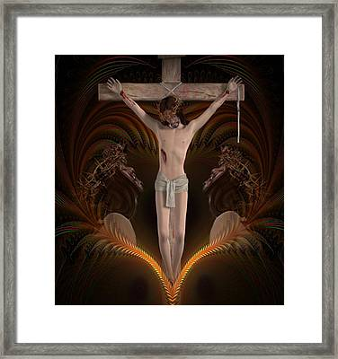 For Our Sins  Framed Print by Ali Oppy