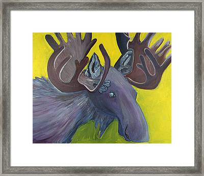 For Purple Mooses Majesty Framed Print by Amy Reisland-Speer