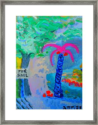 Framed Print featuring the painting For Sail by Angela Annas