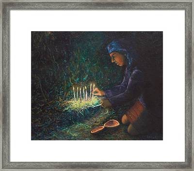 Framed Print featuring the painting For The Ancestors by Carla Woody