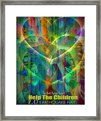 For The Children Framed Print by Fania Simon