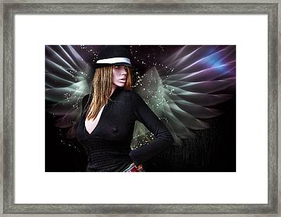 For The Demon Lurked Under The Angel In Me .... Framed Print by Bob Kramer