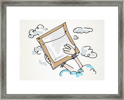 For The Love Of Art Framed Print by Yvonne Wright