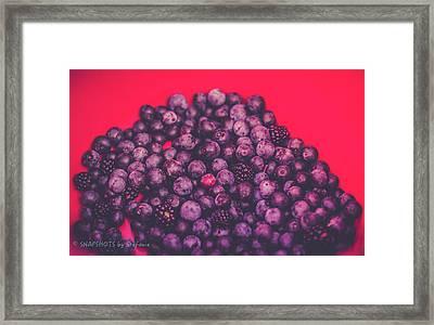 For The Love Of Berries Framed Print by Stefanie Silva
