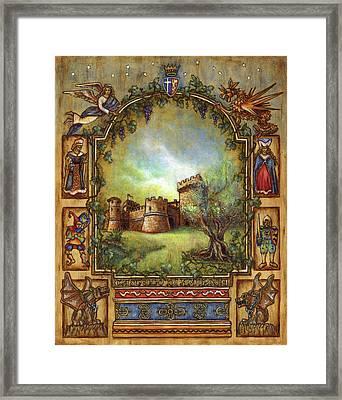 For The Love Of Castles Framed Print by Retta Stephenson