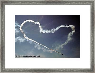 For The Love Of Flight Framed Print by Jennifer Englehardt