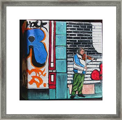 Framed Print featuring the painting For The Love Of Music by Patricia Arroyo