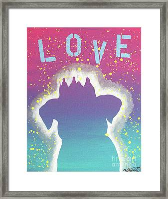For The Love Of Pups Framed Print by Melissa Goodrich