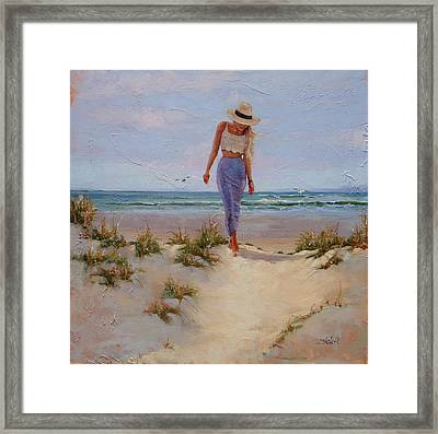 For The Love Of The Sea Framed Print by Laura Lee Zanghetti
