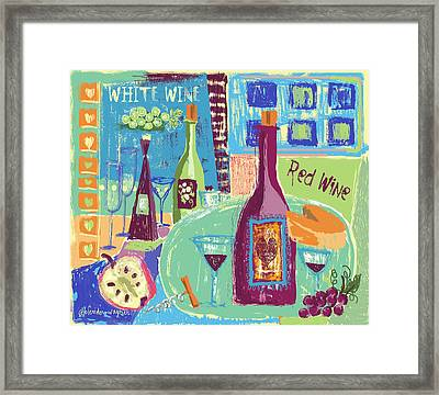 For The Love Of Wine Framed Print by Arline Wagner