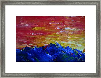 For Them The Sun Rises Framed Print by Cheryl Ehlers