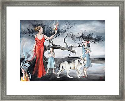 For Those Who Fear Fire Framed Print by Jacque Hudson