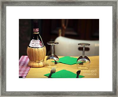 For Two Framed Print by John Rizzuto