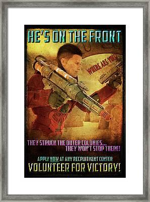 For Victory Framed Print