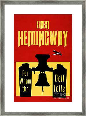 For Whom The Bell Tolls Book Cover Poster Art 2 Framed Print by Nishanth Gopinathan