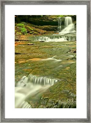 Forbes Cave Falls Framed Print