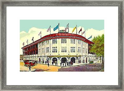 Forbes Field Baseball Stadium In Pittsburgh Pa In 1910 Framed Print