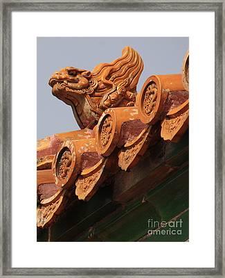 Forbidden City Guardian Framed Print by Carol Groenen