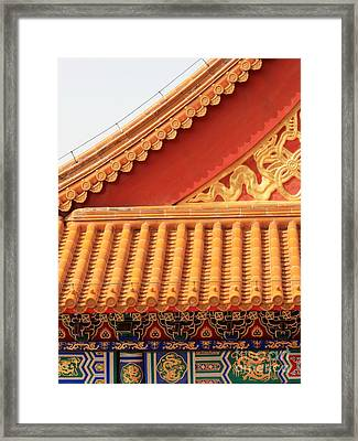 Rooftop Splendor Framed Print by Carol Groenen