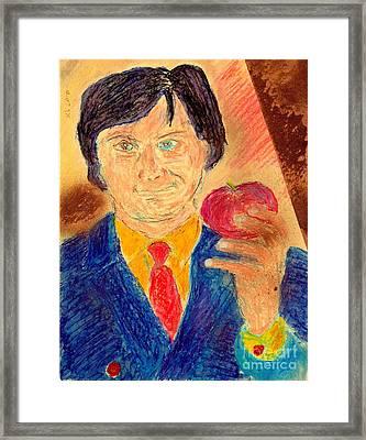 Forbidden Fruit From Steve Jobs Framed Print by Richard W Linford