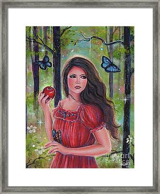 Forbidden Fruit Framed Print by Renee Lavoie