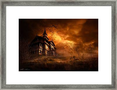 Forbidden Mansion Framed Print by Svetlana Sewell