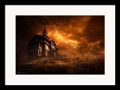 Gloomy Digital Art Framed Prints