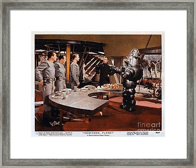 Forbidden Planet Amazing Poster Inside With Scientist Framed Print