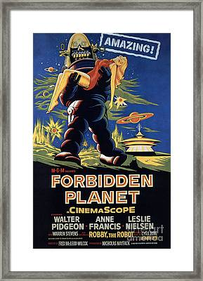 Forbidden Planet Amazing Poster Framed Print